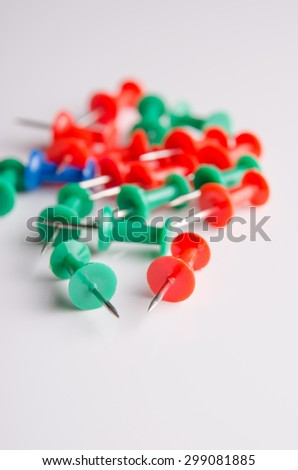 Colored push pins for office usage. - stock photo