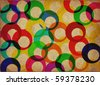 colored rings canvas background - stock photo