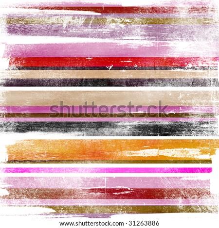 colored shabby stripes - stock photo