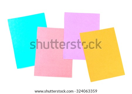 colored sheets for recording, stickers, templates for text and design
