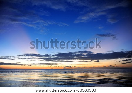 Colored Sky in Kalimantan, Indonesia - stock photo