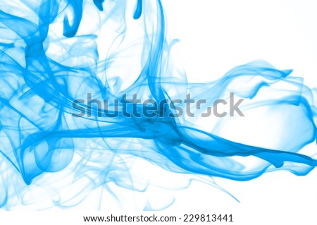 colored smoke isolated on white background  - stock photo