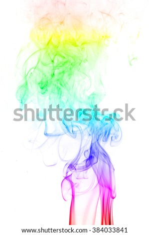 colored smoke isolated on white background, Abstract smoke,Abstract smoke wave
