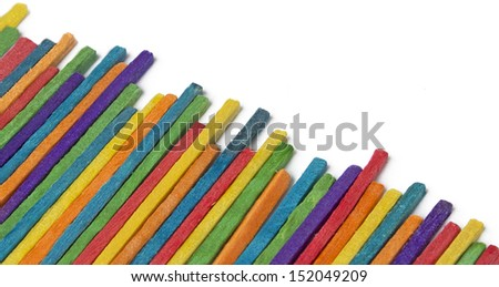 colored sticks wood, Background - stock photo