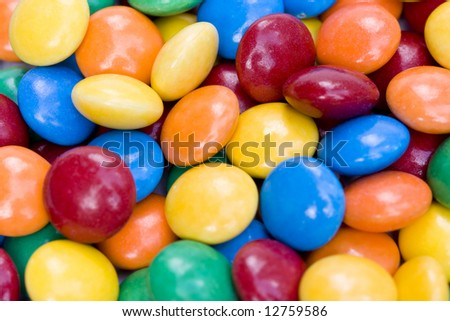 colored sugar coated sweets