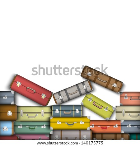 Colored suitcases.  Raster version
