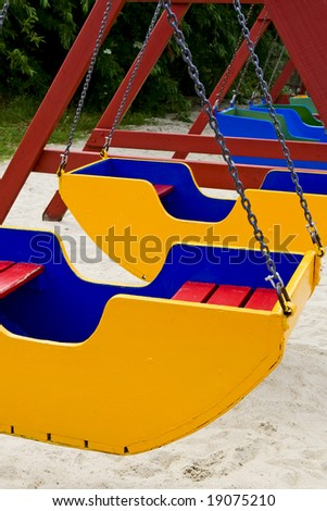 colored swing on a playground