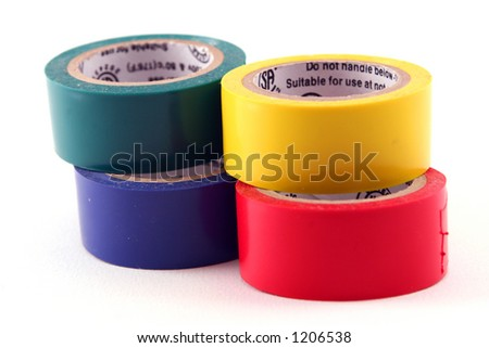 colored tape - stock photo