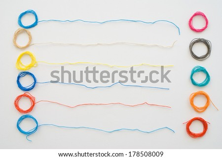 colored threads - stock photo