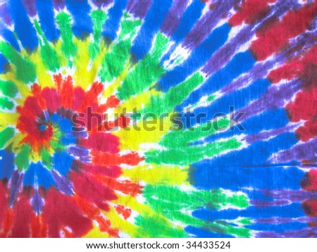 colored tie-dye