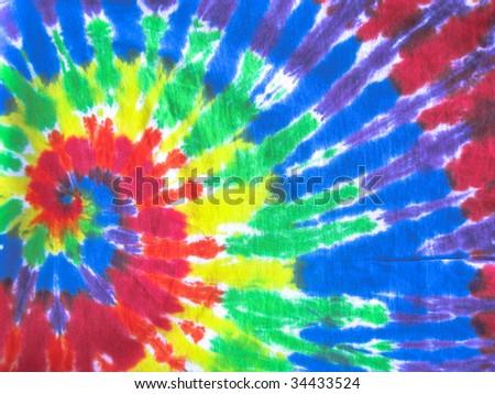 colored tie-dye - stock photo