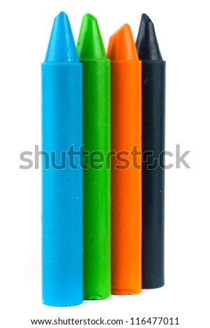 colored vax pencil - stock photo
