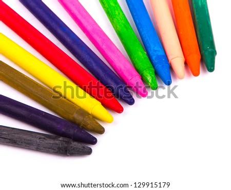 colored vax pencil - stock photo