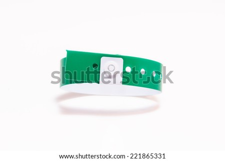 Colored vinyl bracelet in the air on White Background