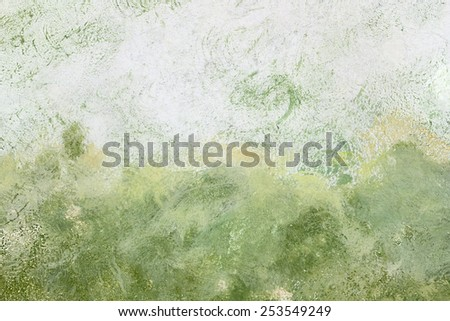 Colored wall texture. Designed grunge background by different paint on cementitious wall. - stock photo