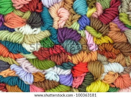 Colored wools texture - stock photo