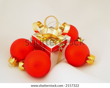 Colored Xmas ornaments