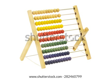 Colorful abacus for children - stock photo