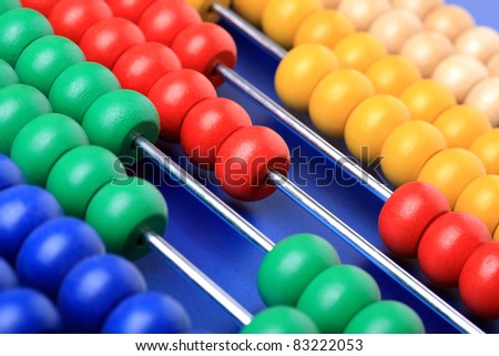 Colorful abacus for learning to count