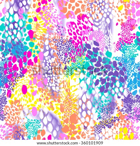 Colorful, abstract animal texture ~ seamless background - stock photo