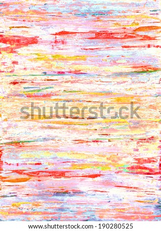 Colorful Abstract Art Painting - stock photo