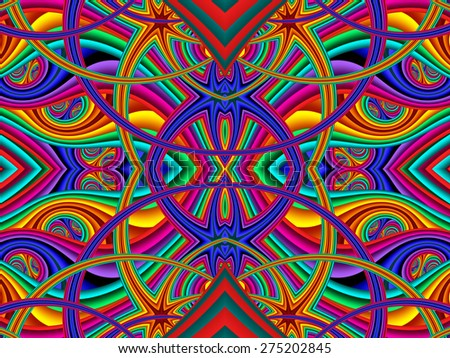 Colorful abstract background. Artwork for creative design, art and entertainment - stock photo