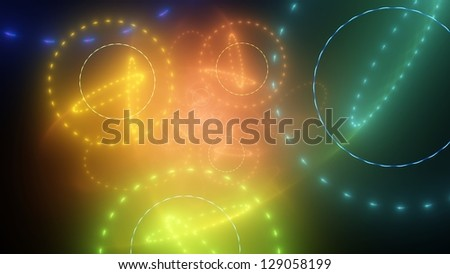 Colorful abstract background - rings of light