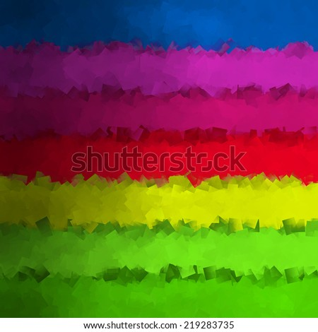 colorful abstract background square sheets of paper texture stripes like rainbow - stock photo