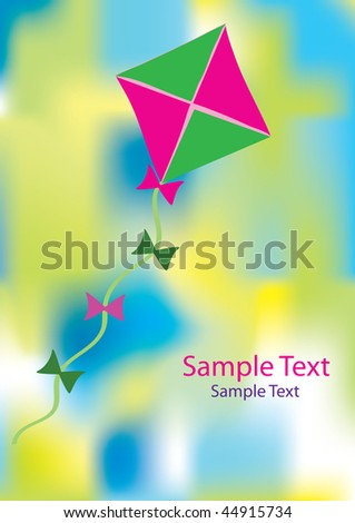 Colorful abstract background with kite