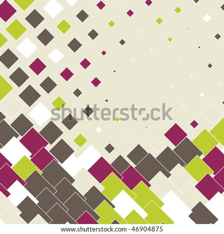 colorful abstract background with mosaic design, raster version