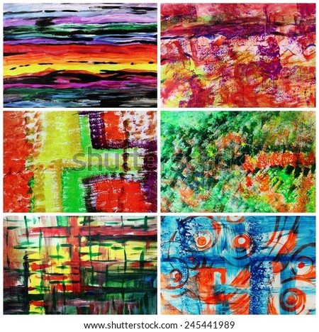 Colorful abstract backgrounds or Creative design for web, Painting decorating - stock photo