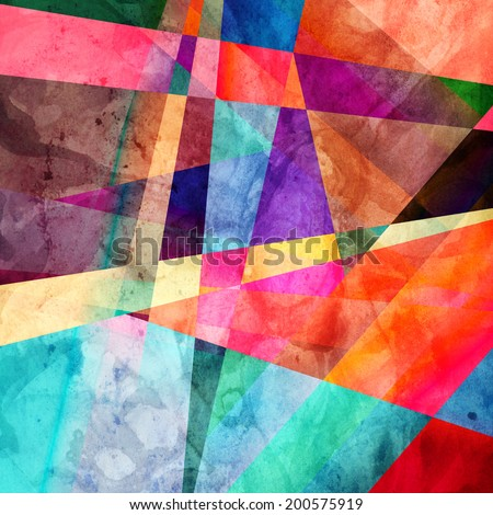 colorful abstract colorful background of geometric elements   - stock photo