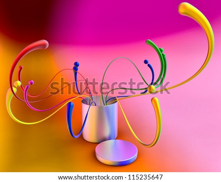 colorful abstract concept background with many design elements