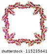 colorful abstract concept frame with many design elements on white background - stock photo