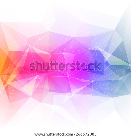 Colorful abstract crystal background. Ice or jewel structure. Pink, Yellow and green bright colors. - stock photo