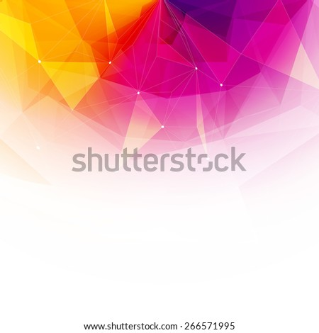 Colorful abstract crystal background. Ice or jewel structure. Pink, Yellow and red bright colors. - stock photo