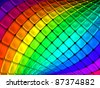 Colorful abstract cube background 3d illustration - stock vector