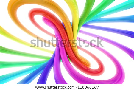 colorful abstract 3d background - stock photo
