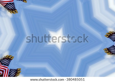 colorful abstract design in shades of blue