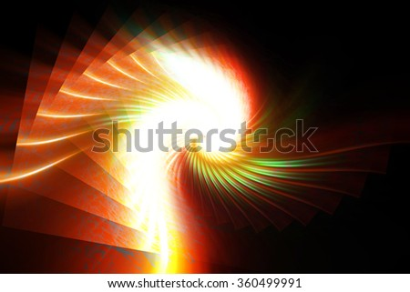colorful abstract explosion on a black background - stock photo