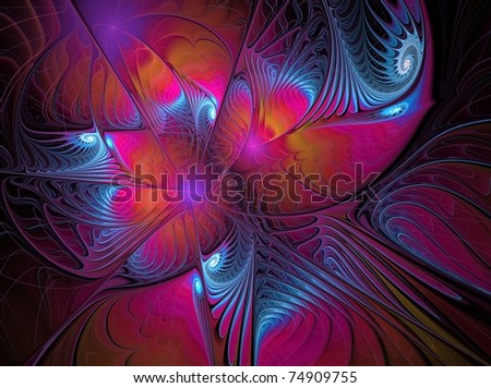 colorful abstract feather-like background texture - stock photo