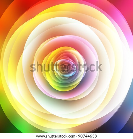Colorful abstract floral background, top view