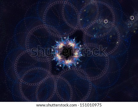 colorful abstract fractal art background