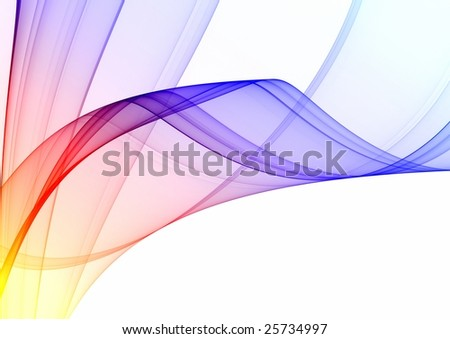 Colorful abstract fractal on white background