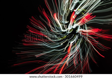 Colorful abstract glowing twirl  - stock photo
