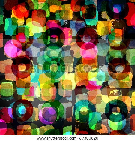 colorful abstract graphic design background - stock photo