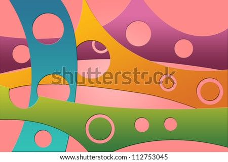 Colorful Abstract Hole Background - stock photo