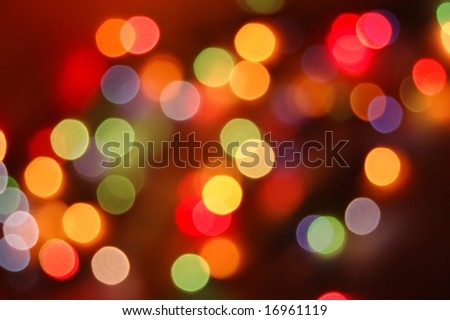 colorful abstract holiday lights - stock photo