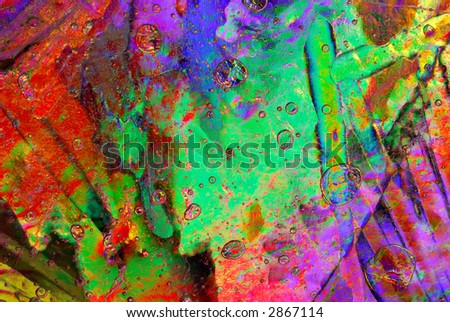 Colorful abstract ice background. - stock photo