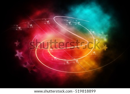 Colorful abstract illustration with magical lights